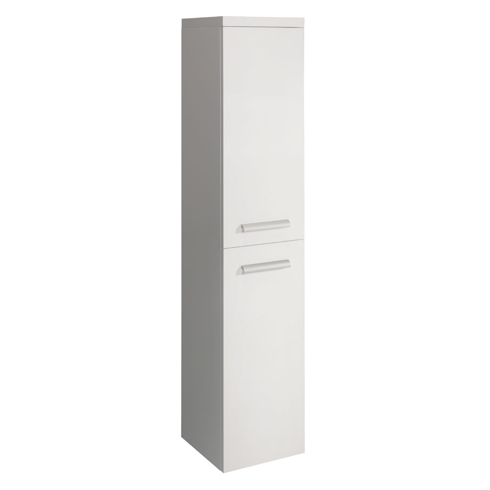 Bauhaus - Design Wall Hung Tower Storage Unit - White Gloss - DE3516FWG Large Image