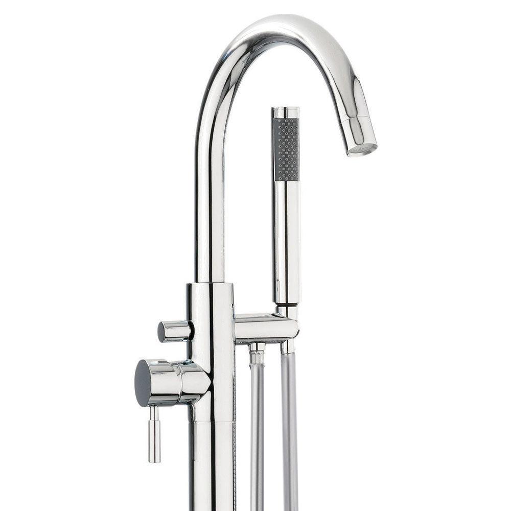 Crosswater - Design Floor Mounted Freestanding Bath Shower Mixer - DE416FC profile large image view 2