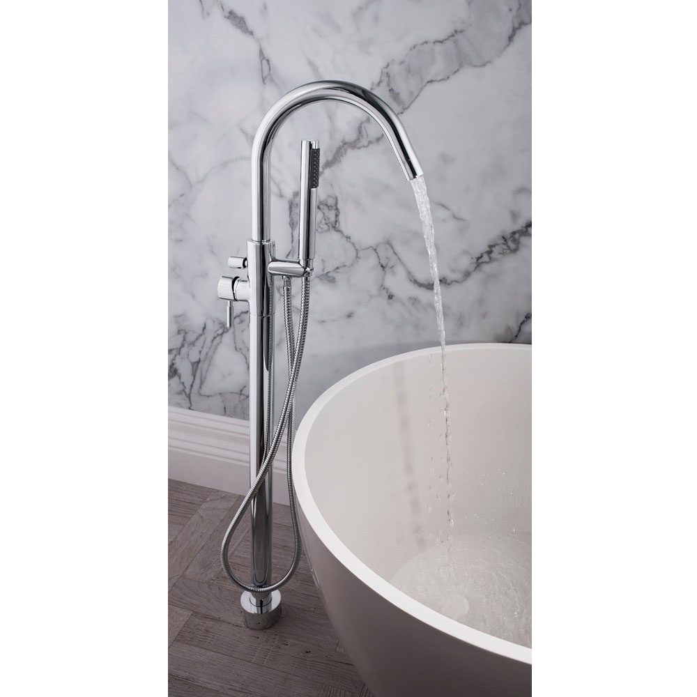 Crosswater - Design Floor Mounted Freestanding Bath Shower Mixer - DE416FC profile large image view 3