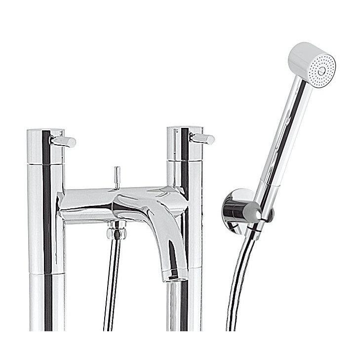 Crosswater - Design Floor Mounted Freestanding Bath Shower Mixer - DE422DC-AA002FC Profile Large Image