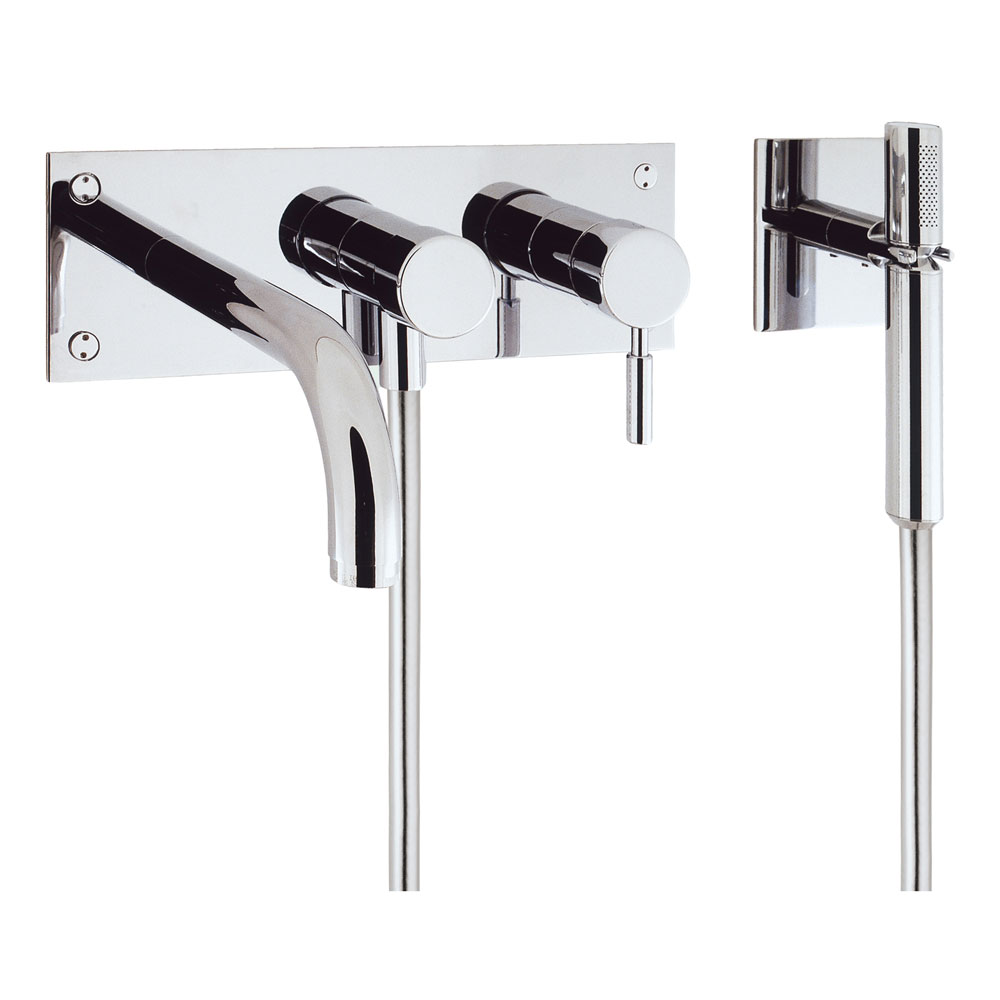 Crosswater - Design Wall Mounted 3 Hole Bath Shower Mixer - DE431WC profile large image view 1