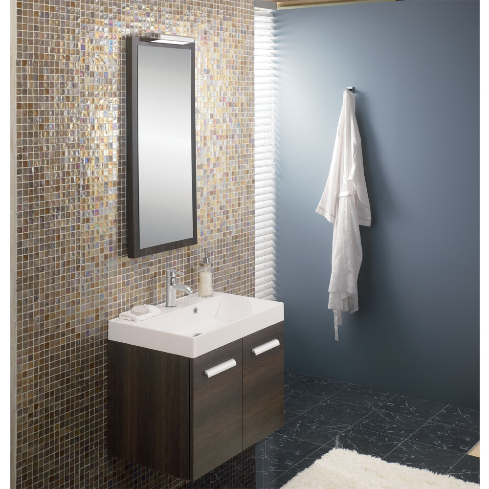Bauhaus - Design Wall Hung Door Vanity Unit and Basin - White Gloss profile large image view 4