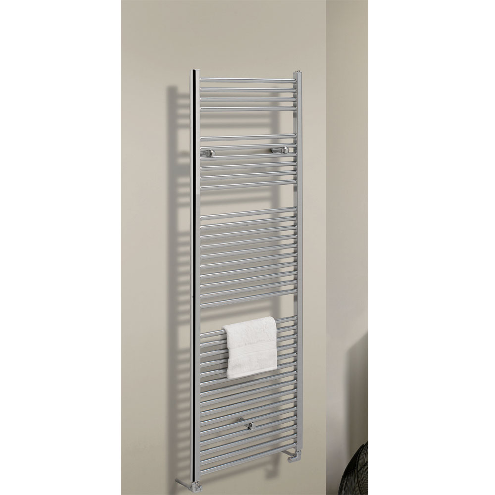 Bauhaus - Design Flat Panel Towel Rail - Chrome - Various Size Options profile large image view 2