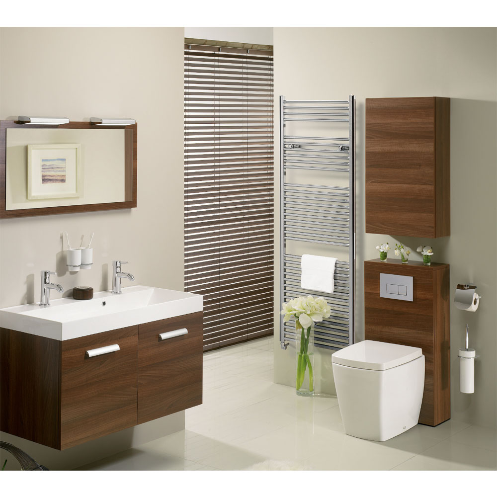 Bauhaus - Design Flat Panel Towel Rail - Chrome - Various Size Options profile large image view 3