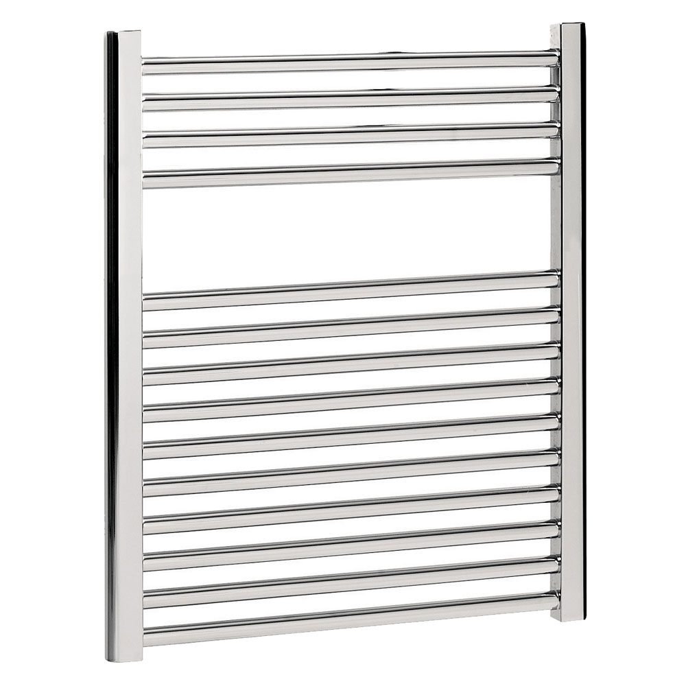 Bauhaus - Design Flat Panel Towel Rail - Chrome - Various Size Options Large Image
