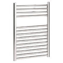 Bauhaus - Design Flat Panel Towel Rail - Chrome - Various Size Options Medium Image