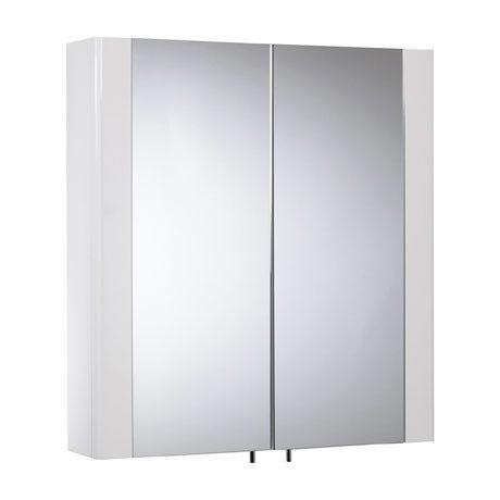 Tavistock Detail Double Door Mirror Cabinet - Gloss White