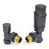 Delta Angled TRV Anthracite Thermostatic Radiator Valves profile small image view 1