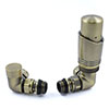 Delta Corner TRV Antique Brass Thermostatic Radiator Valves profile small image view 1