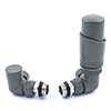 Delta Corner TRV Gunboat Grey Thermostatic Radiator Valves profile small image view 1