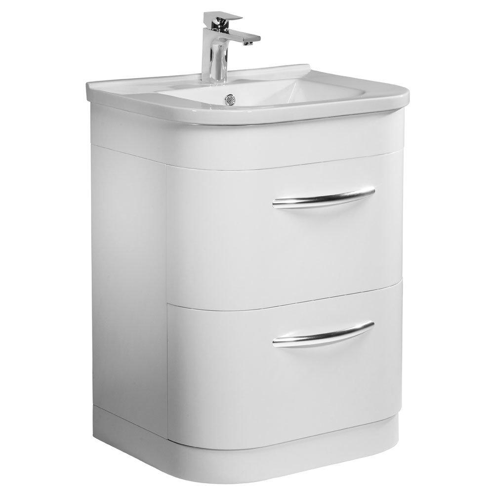 Tavistock Desire 600mm Freestanding Unit & Basin - Gloss White Large Image