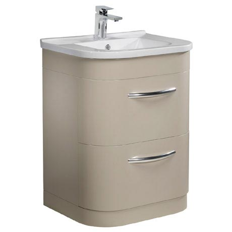 Tavistock Desire 600mm Freestanding Unit & Basin - Putty