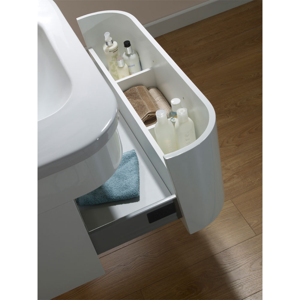 Tavistock Desire 600mm Wall Mounted Unit & Basin - Gloss White Profile Large Image