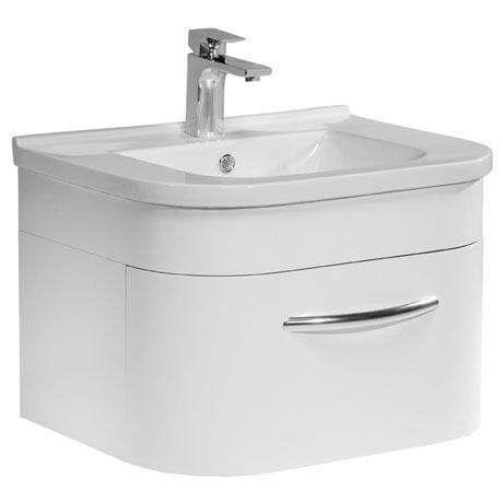 Tavistock Desire 600mm Wall Mounted Unit & Basin - Gloss White