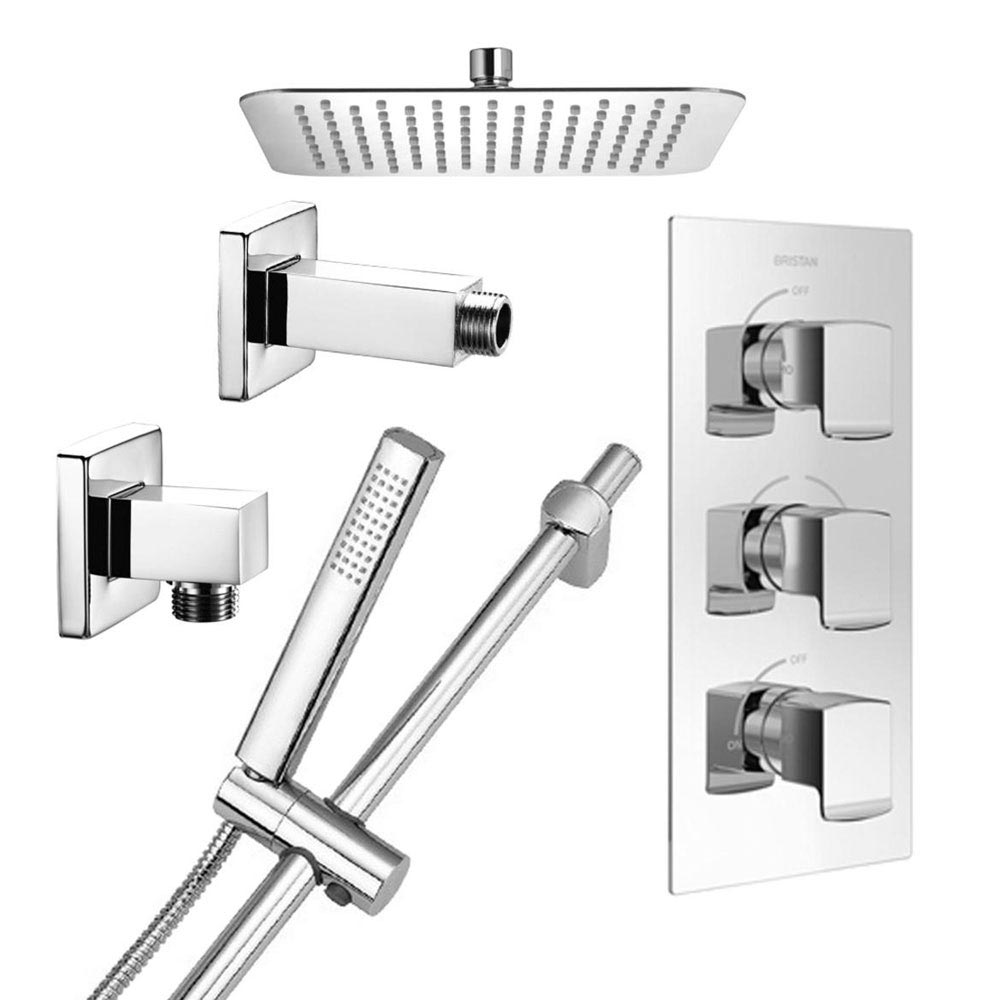 Bristan Descent Luxury Fixed Head Shower Pack profile large image view 1