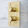 JTP Vos Brushed Brass Twin Outlet Thermostatic Concealed Shower Valve with Designer Handles profile small image view 1