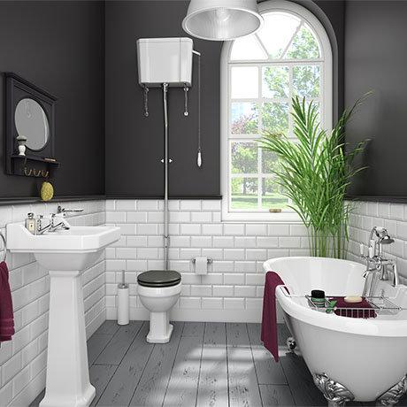 Duke High Level Bathroom Suite + Roll Top Bath