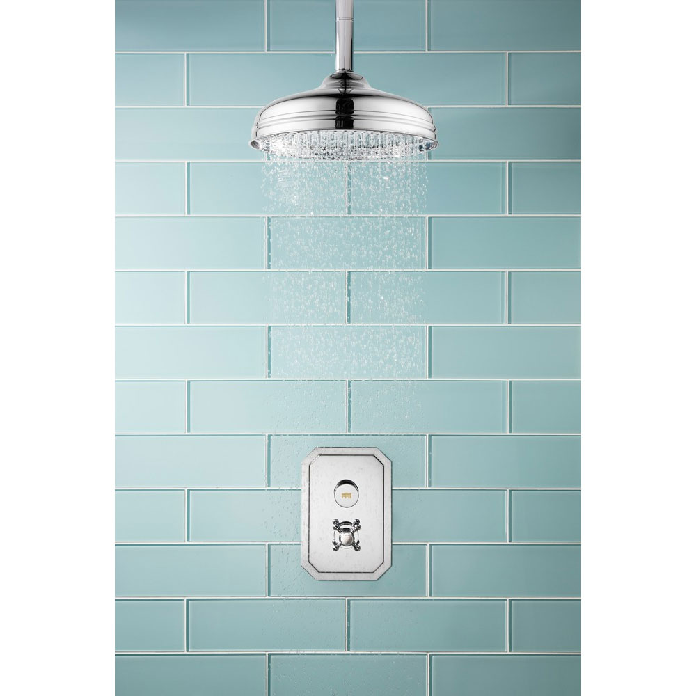 Crosswater - Dial Belgravia 1 Control Shower Valve with Fixed Head & Ceiling Arm profile large image view 3