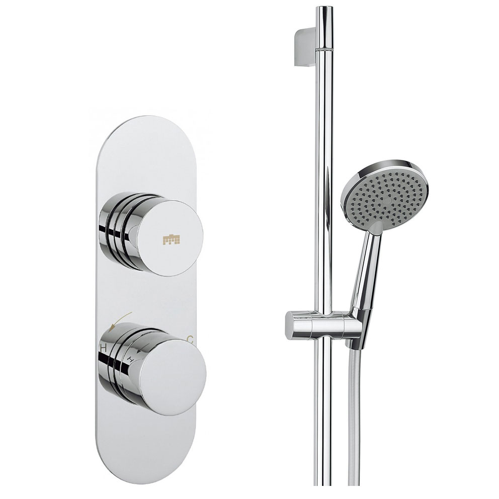 Crosswater - Dial Central 1 Control Shower Valve with Single Mode Shower Kit profile large image view 1