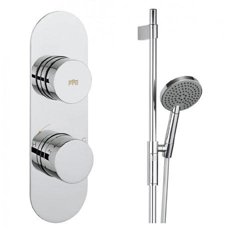 Crosswater - Dial Central 1 Control Shower Valve with 3 Mode Shower Kit