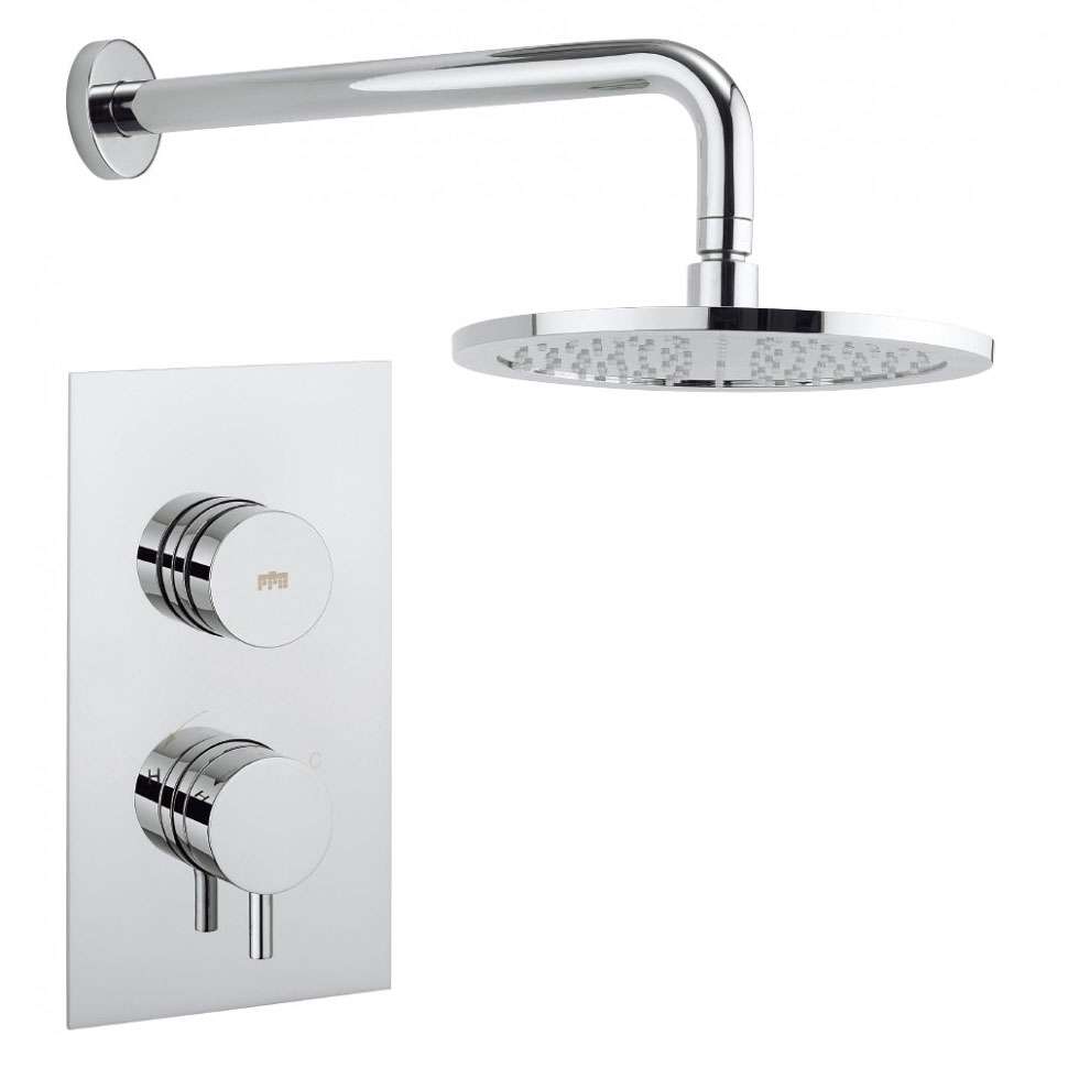 Crosswater - Dial Kai Lever 1 Control Shower Valve with Fixed Head & Arm Large Image