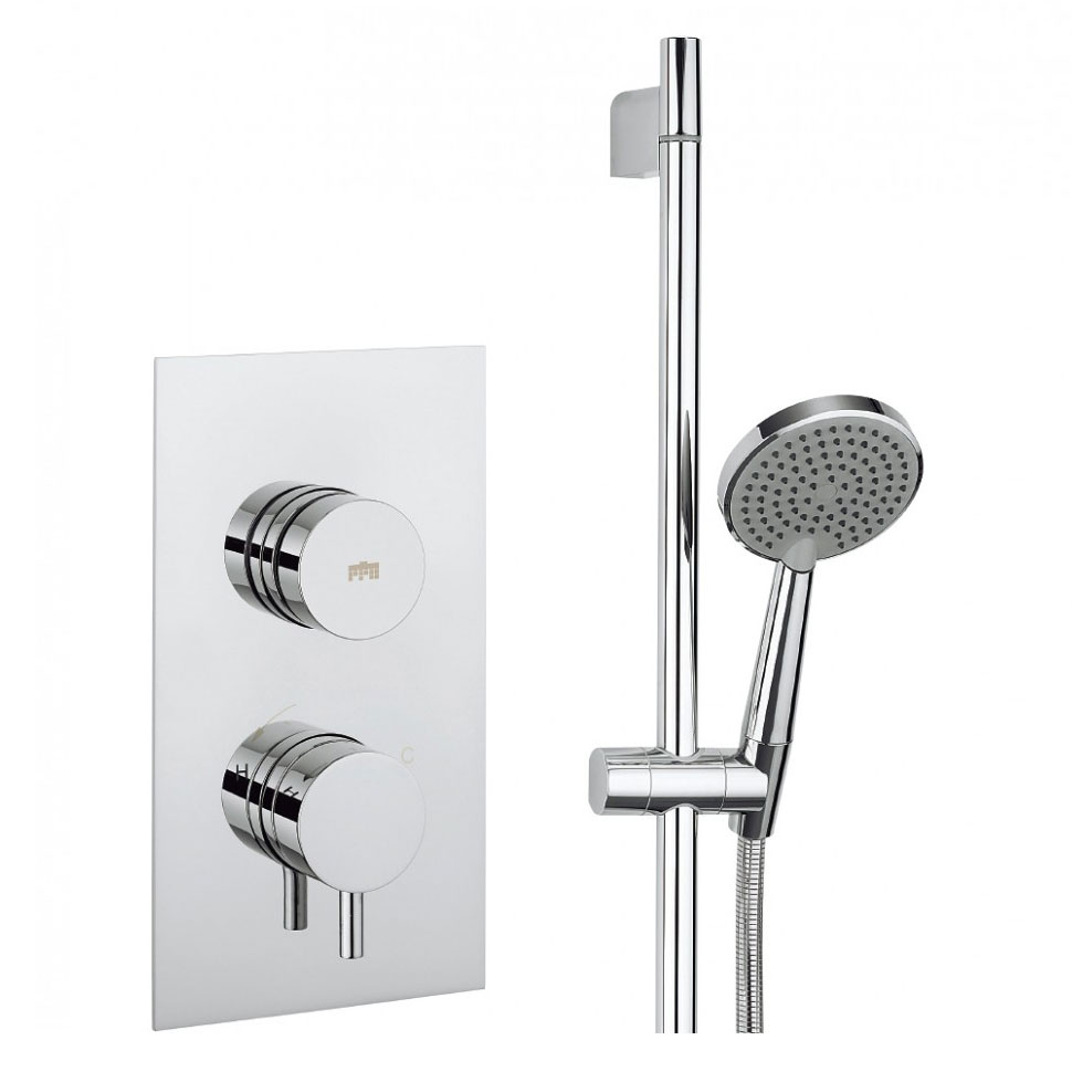 Crosswater - Dial Kai Lever 1 Control Shower Valve with 3 Mode Shower Kit