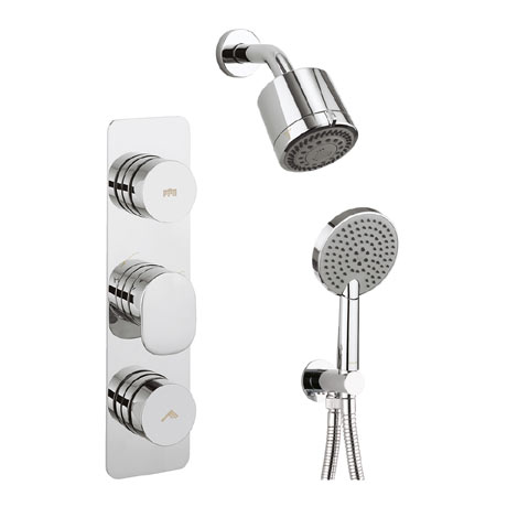 Crosswater Dial Pier 2 Control Shower Valve with 3 Mode Handset, Reflex Head & Arm
