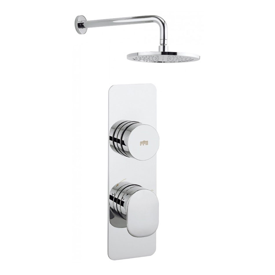 Crosswater - Dial Pier 1 Control Shower Valve with Fixed Head & Arm Large Image