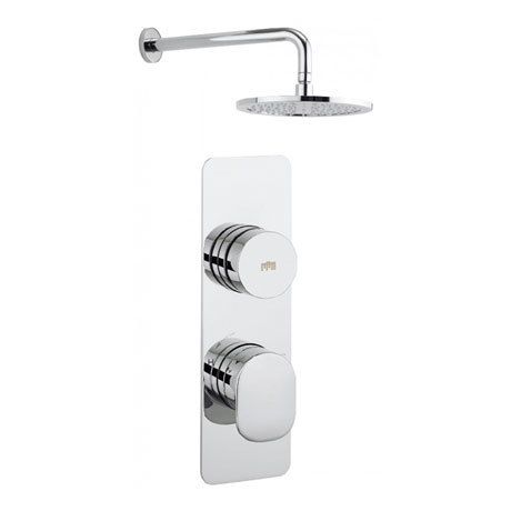 Crosswater - Dial Pier 1 Control Shower Valve with Fixed Head & Arm