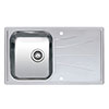 Reginox Diplomat 10 Eco 1.0 Bowl Stainless Steel Inset Kitchen Sink profile small image view 1