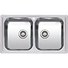 Reginox Diplomat 20 2.0 Bowl Stainless Steel Inset Kitchen Sink profile small image view 1