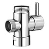 Round Chrome Shower Diverter Valve profile small image view 1