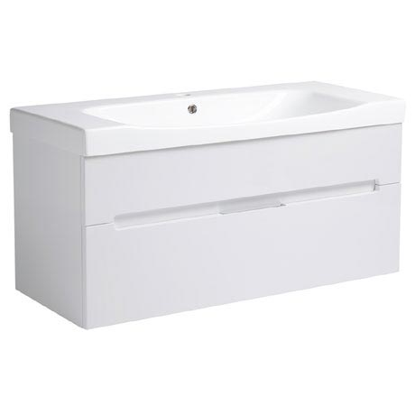 Roper Rhodes Diverge 1000mm Wall Mounted Unit - Gloss White
