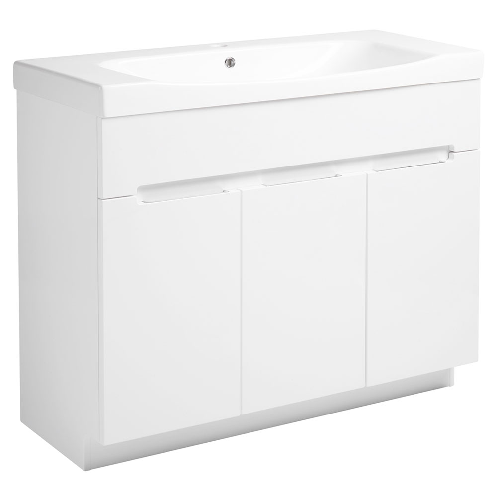 Roper Rhodes Diverge 1000mm Freestanding Unit - Gloss White Large Image