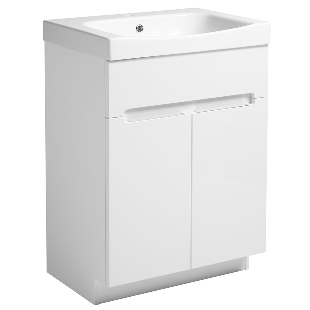 Roper Rhodes Diverge 600mm Freestanding Unit - Gloss White profile large image view 1
