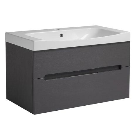 Roper Rhodes Diverge 800mm Wall Mounted Unit - Charcoal Elm