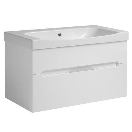 Roper Rhodes Diverge 800mm Wall Mounted Unit - Gloss White