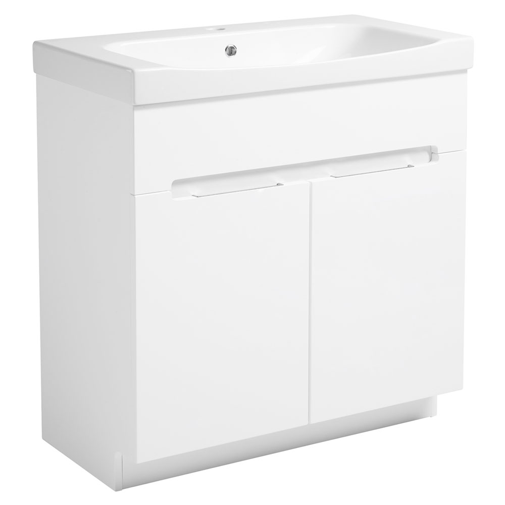 Roper Rhodes Diverge 800mm Freestanding Unit - Gloss White Large Image