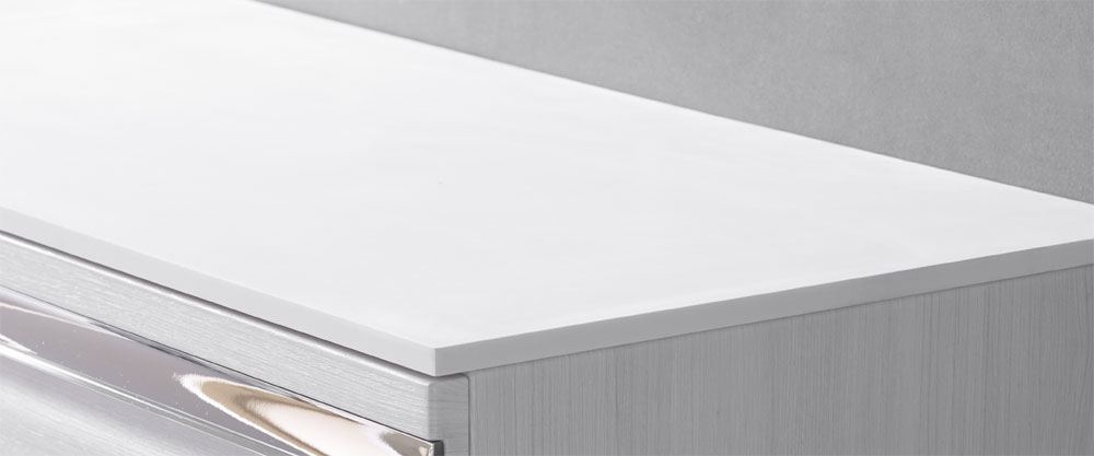Roper Rhodes Diverge 1000mm Solid Surface Worktop with Supports - DIV10SSWKIT Large Image