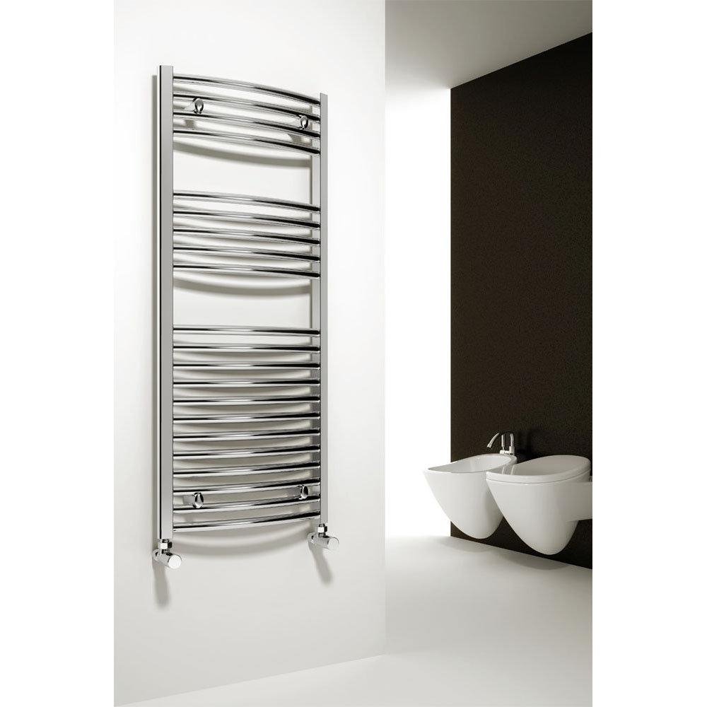Reina Diva Curved Towel Rail - Chrome