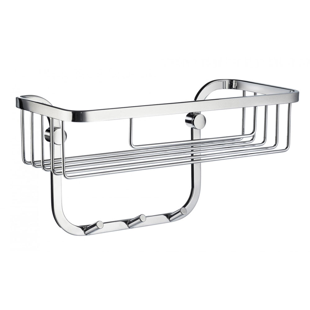 Smedbo Sideline Shower Basket with 3 Hooks - Polished Chrome - DK2006 Large Image