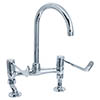 "Deva - 6"" Lever Bridge Sink Mixer with Adjustable centres - DLV305B profile small image view 1"