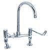 "Deva - 6"" Lever Bridge Sink Mixer with Adjustable centres - DLV305B profile small image view 1"