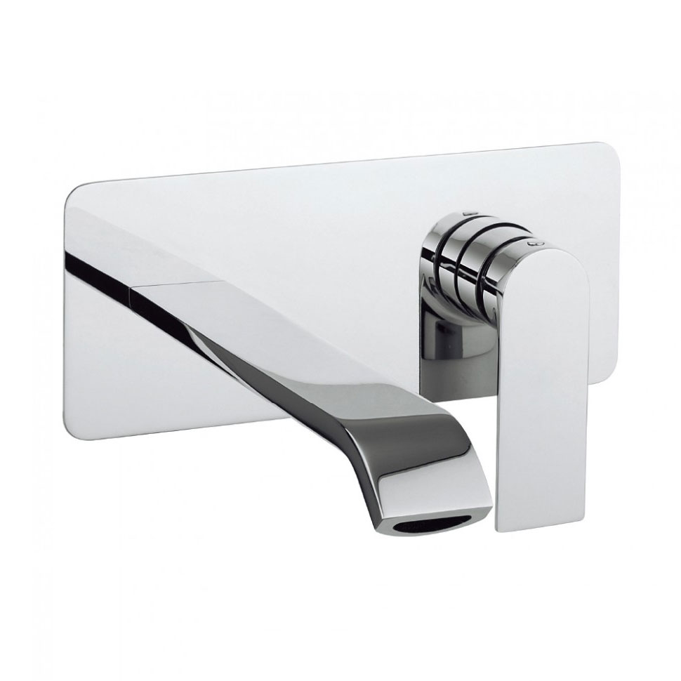 Crosswater - Dune Wall Mounted 2 Hole Set Basin Mixer - DN121WNC Large Image