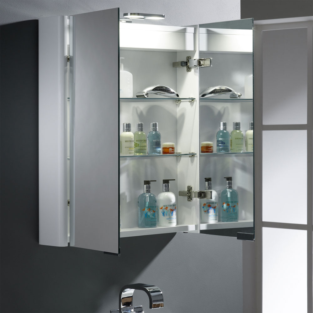 Roper Rhodes Entity Mirror Cabinet with Electrics - DN60WL Standard Large Image