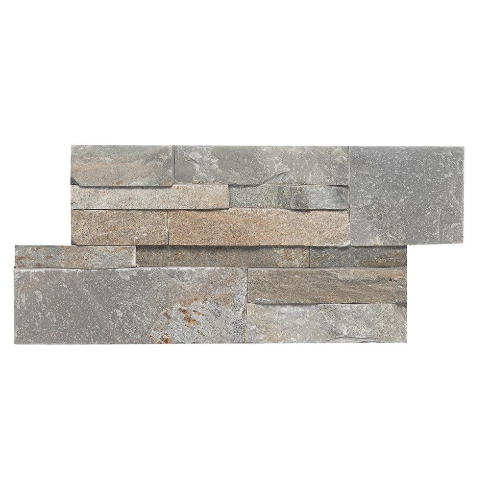 Juno Quartz Stone Split Face Tiles 180 x 350mm Large Image