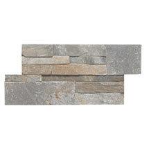 Juno Quartz Stone Split Face Tiles 180 x 350mm Medium Image
