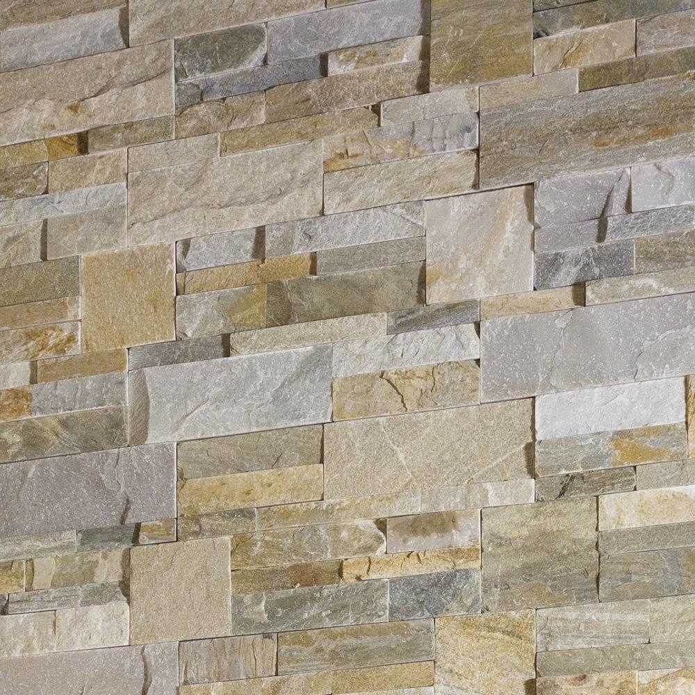 Juno Quartz Stone Split Face Tiles 180 x 350mm  Feature Large Image