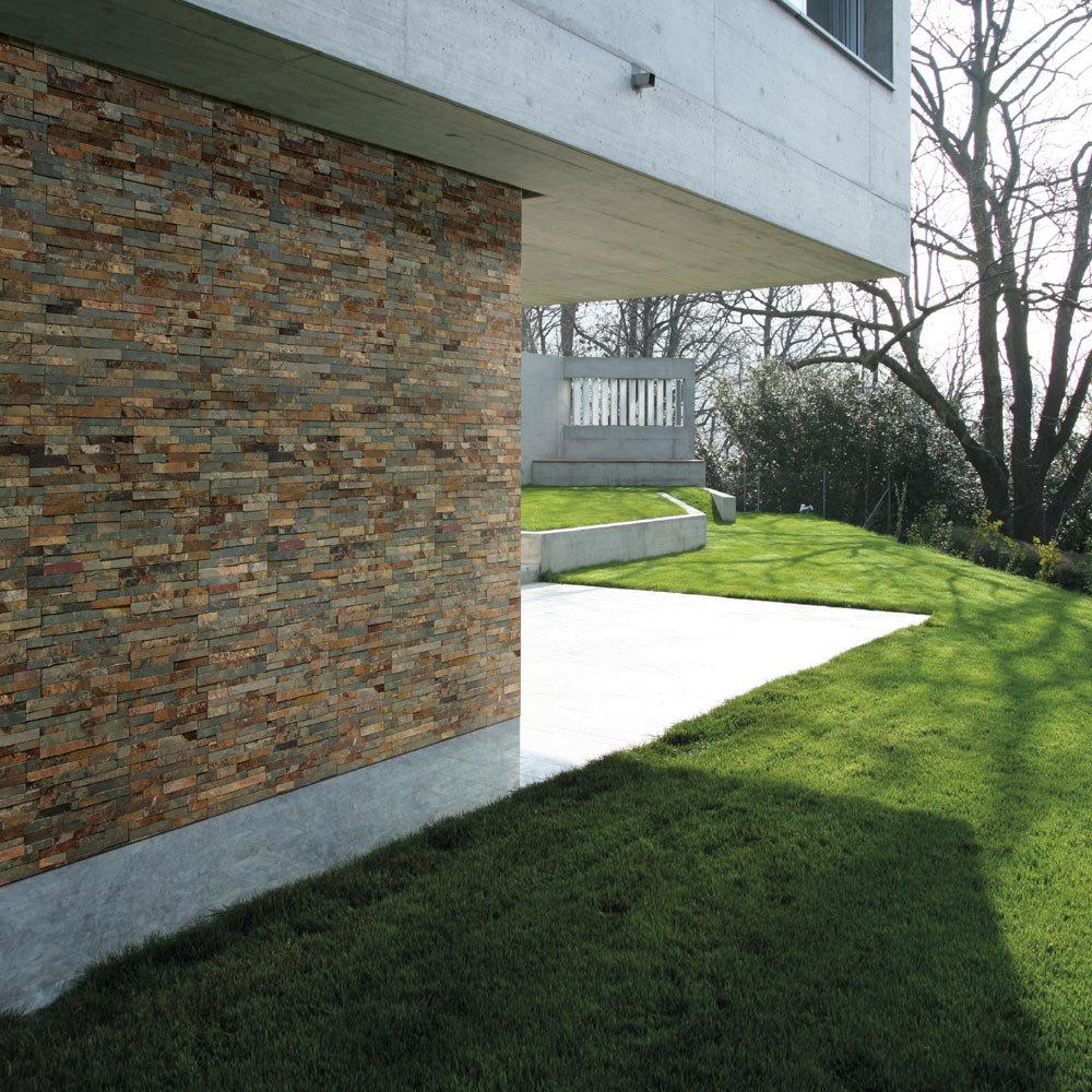 Juno Rustic Stone Split Face Tiles 180 x 350mm  Profile Large Image