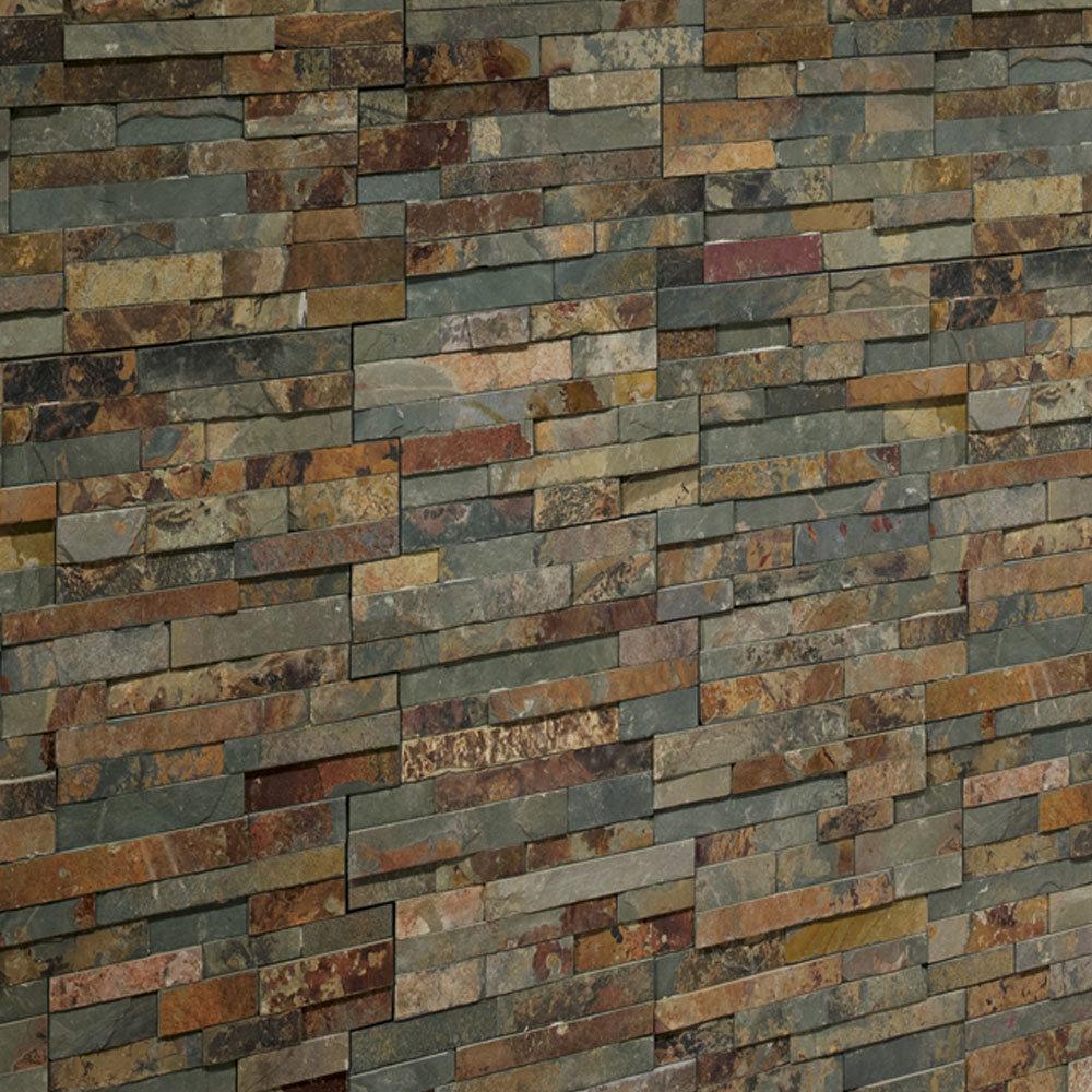 Juno Rustic Stone Split Face Tiles 180 x 350mm  Feature Large Image